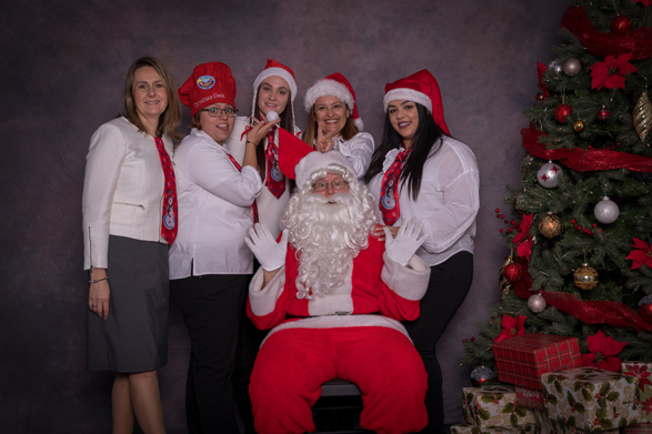 Santa and the dentists of Heritage House Dental